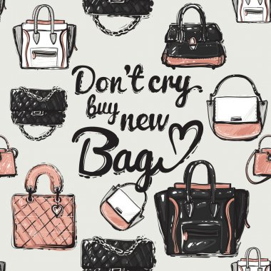 illustration do not cry buy new bag