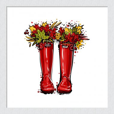 colorful fashionable hunter boots