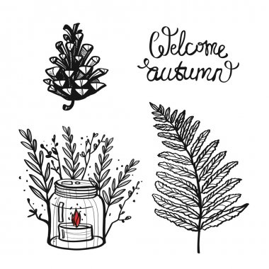 welcome autumn lettering