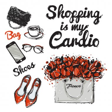 illustration: shopping is my cardio