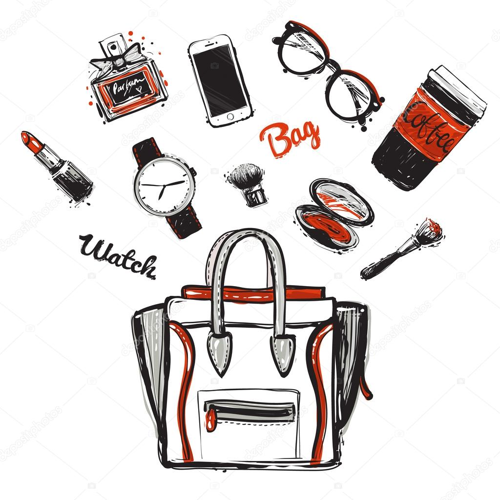 Fashion accessories sketch