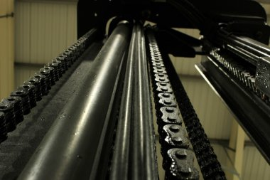 Forklift Mast Chains And Pulley