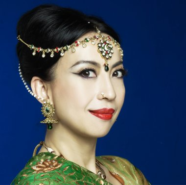 Asian woman in traditional clothing