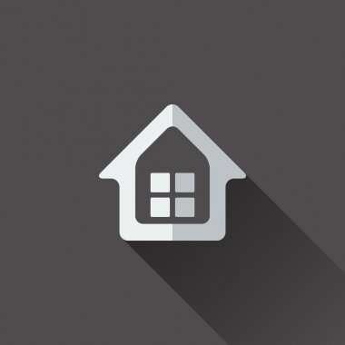 Home icon. Flat design