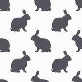 Hasensilhouette nahtloses Muster. Kaninchenfleisch Hintergrund