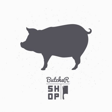 Butcher shop logo template