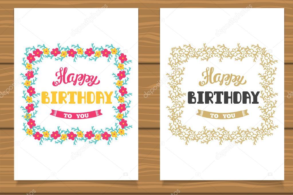 Fotos plantillas cumpleanos Feliz cumpleaños Un conjunto de plantillas para tarjetas de