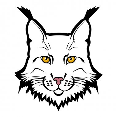 Lynx mascot logo. Head of lynx isolated vector illustration