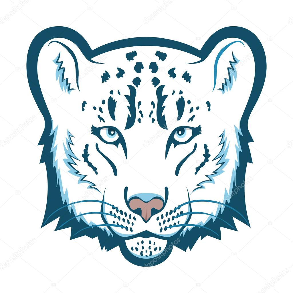snow leopard logo mascot snow leopard head isolated vector rh depositphotos com snow leopard clip art free
