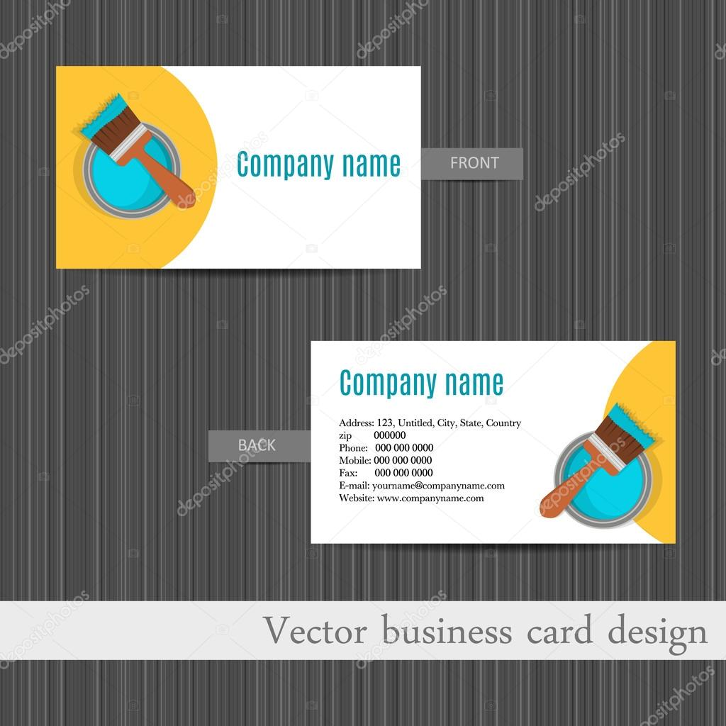 business card design for home repair set template — Stock Vector ...