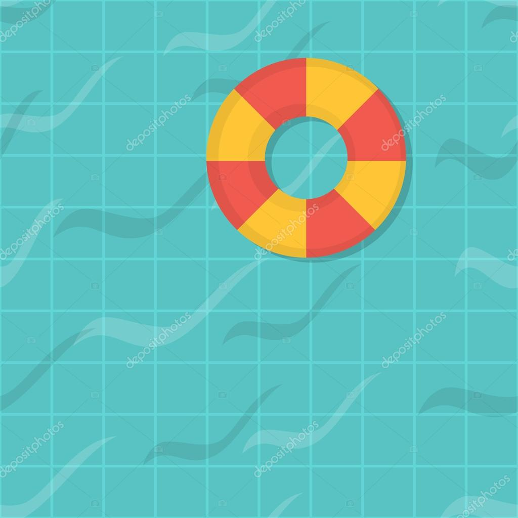 Seamless pattern swimming pool top view flat design for Pool design pattern