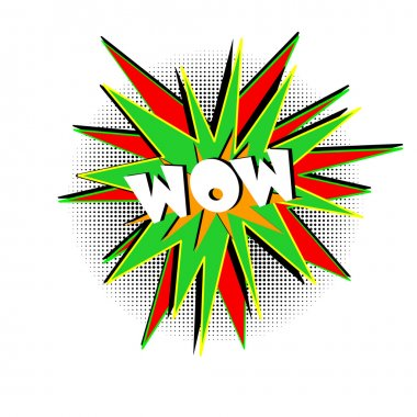 Word wow pop art
