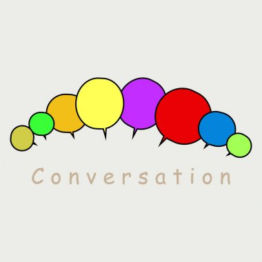 Group speech bubbles vector,communication and conversation concept, speaking and talk illustration icon