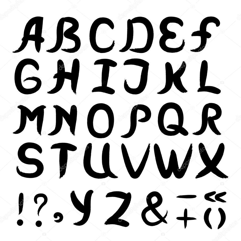 aquarell alphabet schriften abc stockvektor shipiolik 65445401. Black Bedroom Furniture Sets. Home Design Ideas