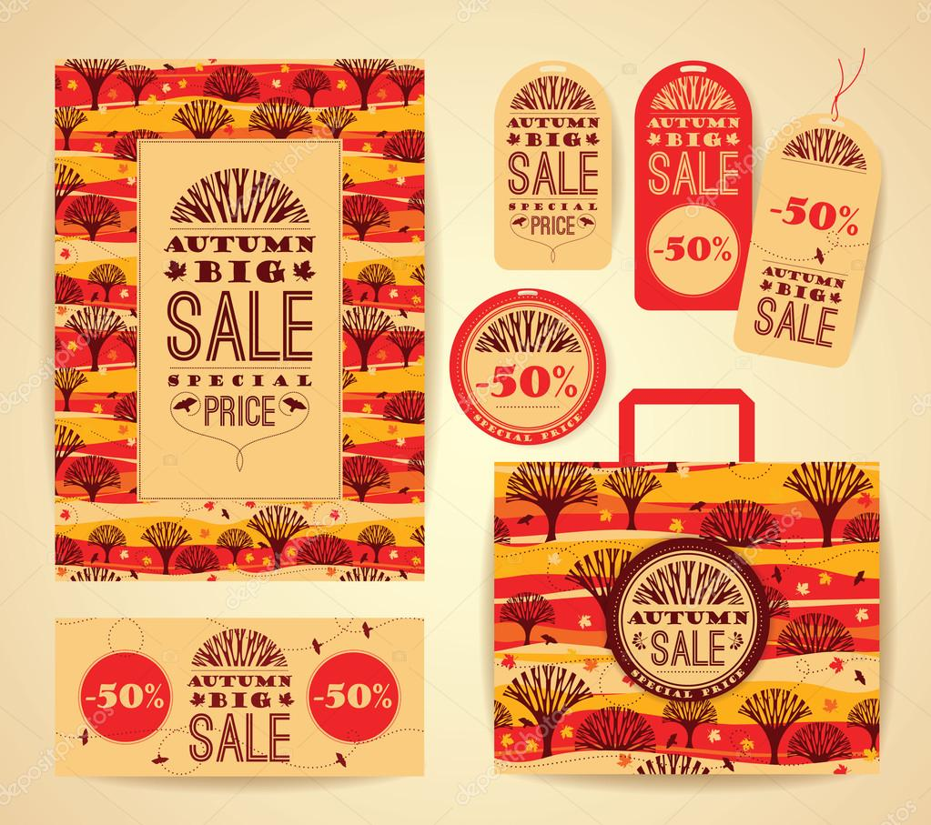 Design set  for autumn sale.