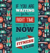 Fitness ikony pozadí