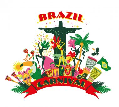 Brazilian Carnival clip art vector