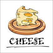 Fotografia Illustrazione di formaggio