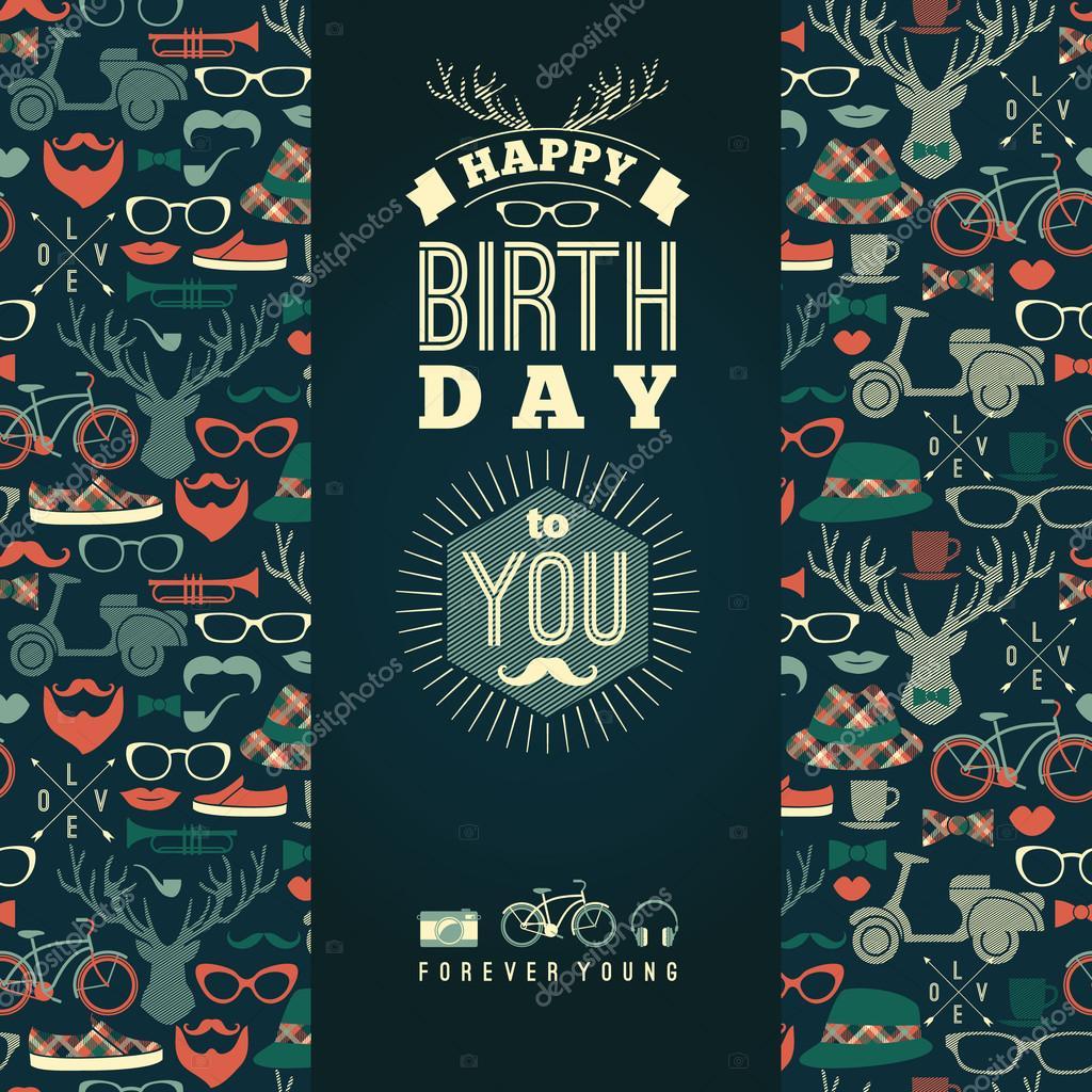 Поздравительные открытки с днем рождения ретро ... Фон Для Открытки Винтаж