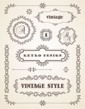 Vintage Badges, Frames, Labels and Borders.