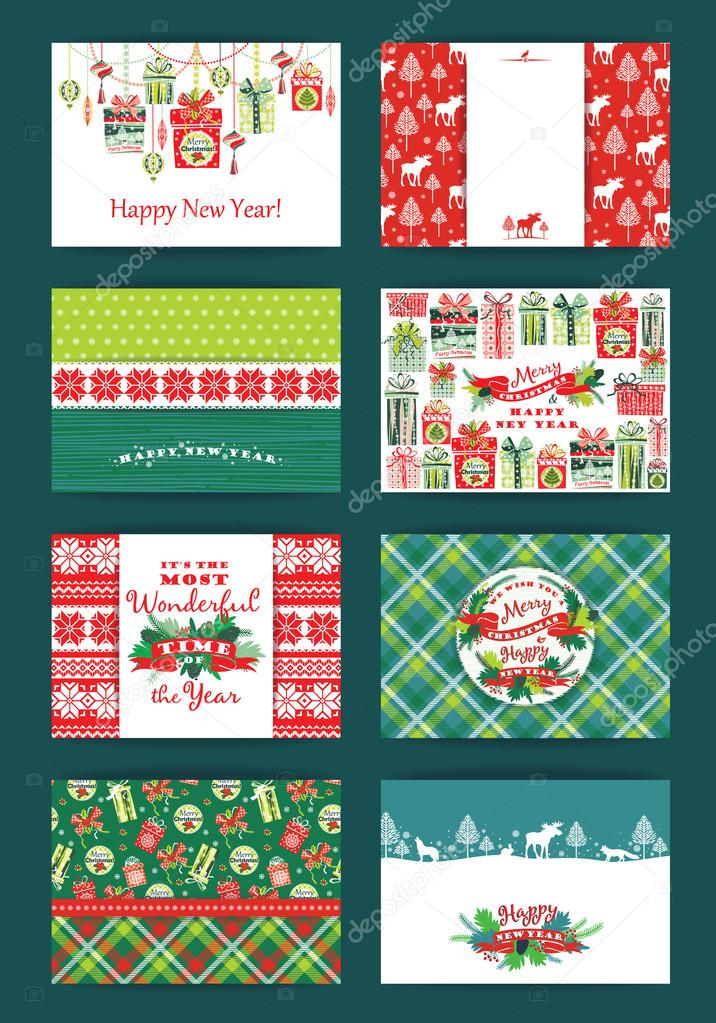 Christmas and New Year Set.