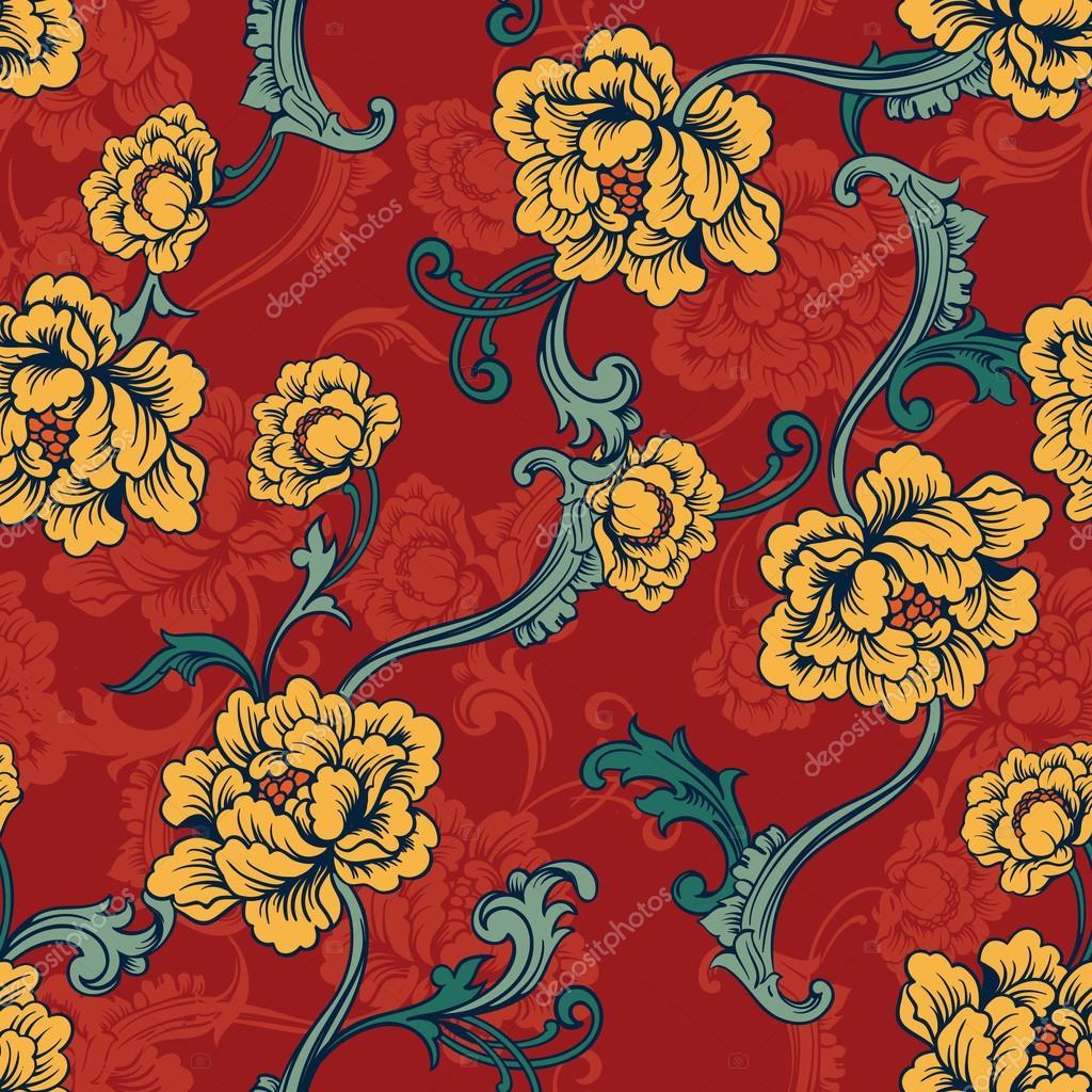 Seamless background. Baroque pattern
