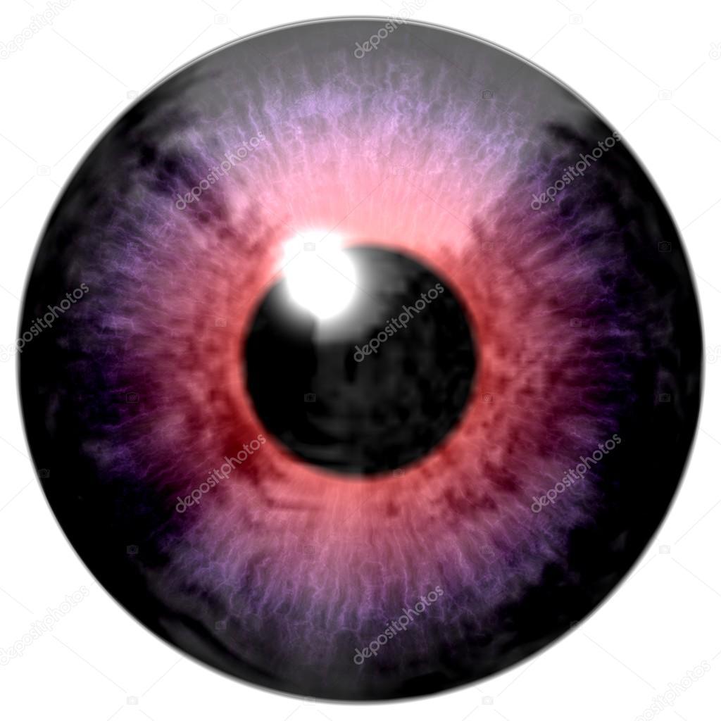 D tail des yeux avec le fil rose violet couleur iris et - Couleur rose violet ...