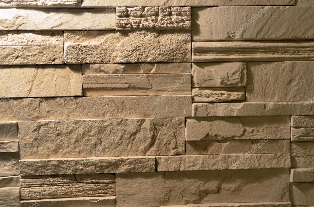 Revestimiento de piedra beige para las paredes textura for Revestimiento para paredes