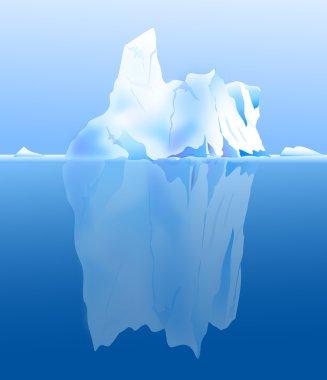 Iceberg is a vector illustration. stock vector