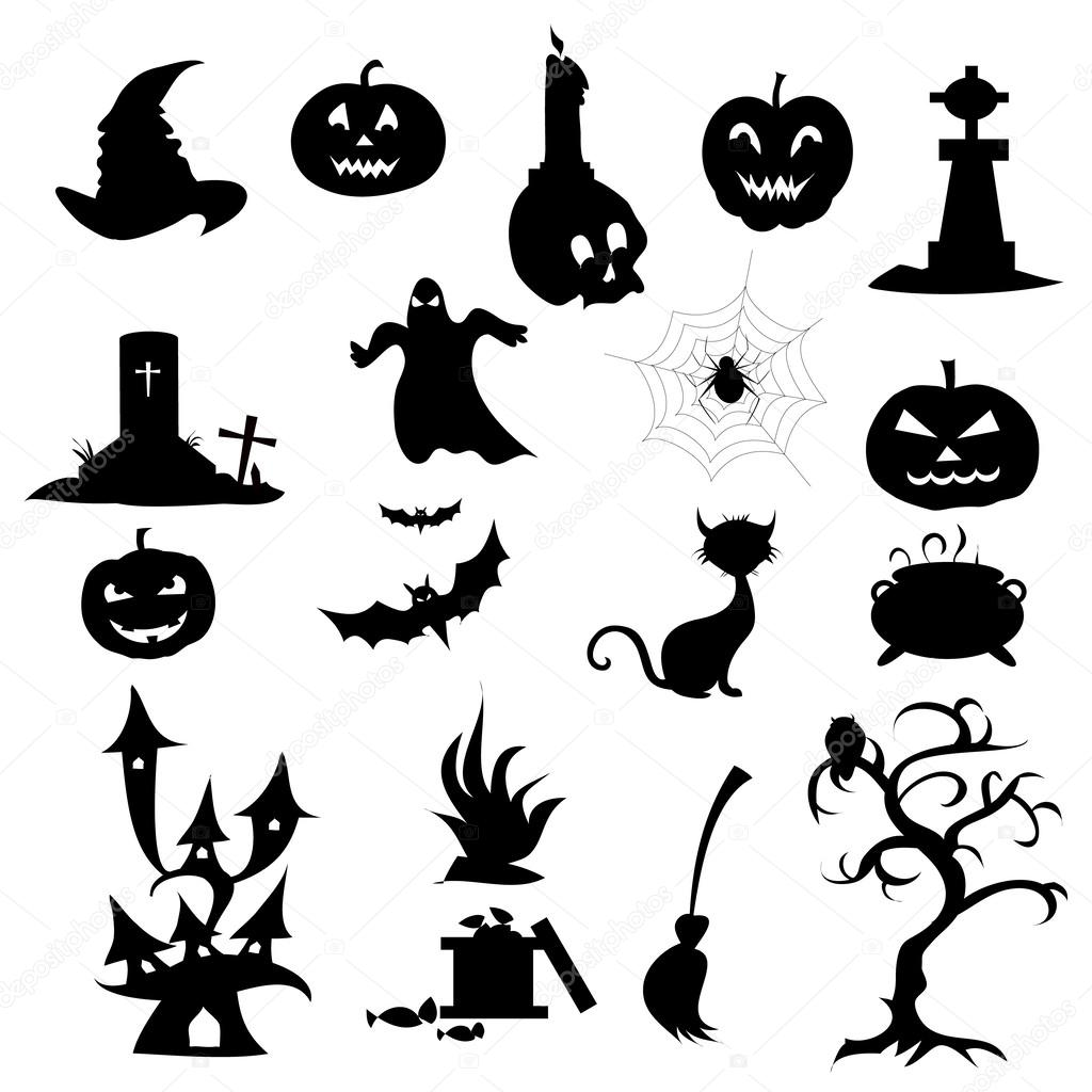 Halloween Icons Set — Stock Vector © samillustration #53162757