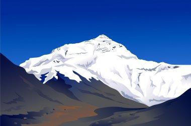 Mount Everest-vector