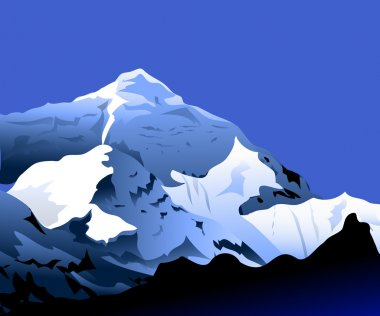 Mount Everest - vector