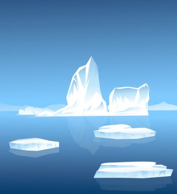Beauty of Iceberg-Vector