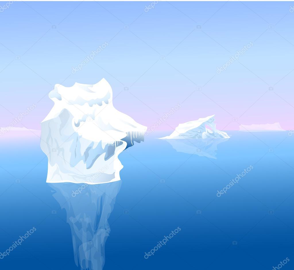 Beauty of Iceberg-Vector