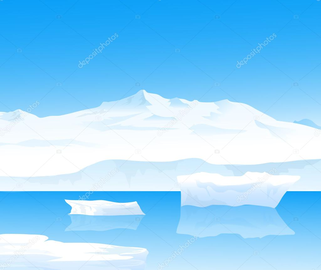 Landscape of Antarctica-vector