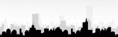 Cityscape Silhouette-Vector