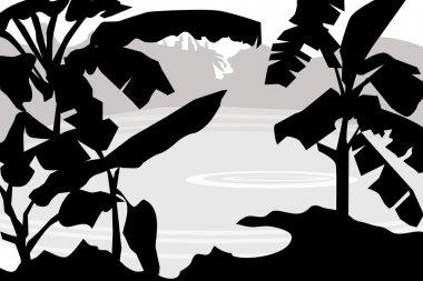Banana Tree & Landscape -vector