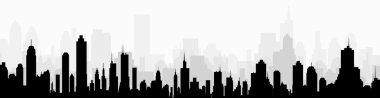 City at Early Morning-Vector