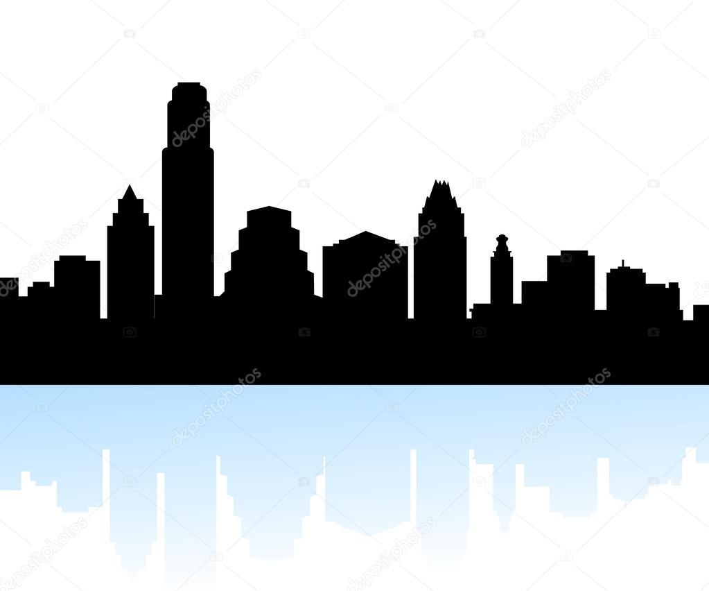 austin texas skyline vector stock vector samillustration 55712917 rh depositphotos com  dallas texas skyline vector