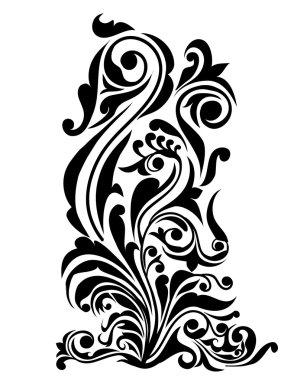 Swirl, Patterns, Flowers Design-Vector