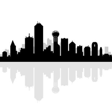 Dallas Skyline-Vector