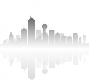 Morning Dallas Skyline-Vector