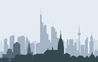 Morning  Frankfurt Skyline-Vector