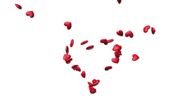 Červené srdce, takže jedno velké srdce