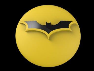3D Batman logo