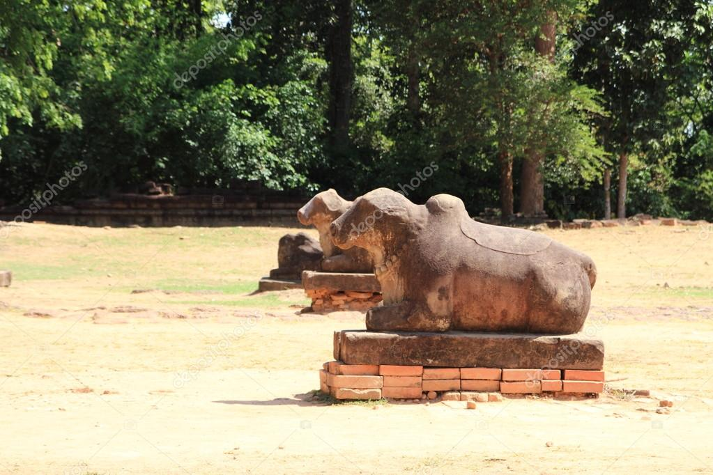 Nandi at Preah Ko in Angkor, Siem Reap, Cambodia