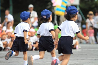 Sports festival at Japanese kindergarten