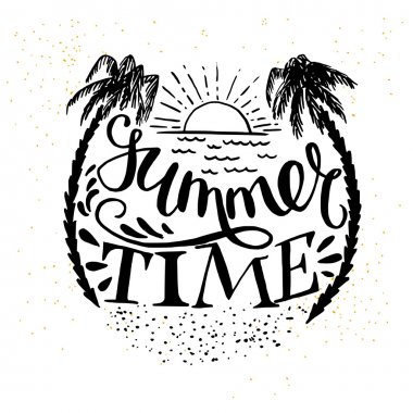 'Summer Time' hand lettering