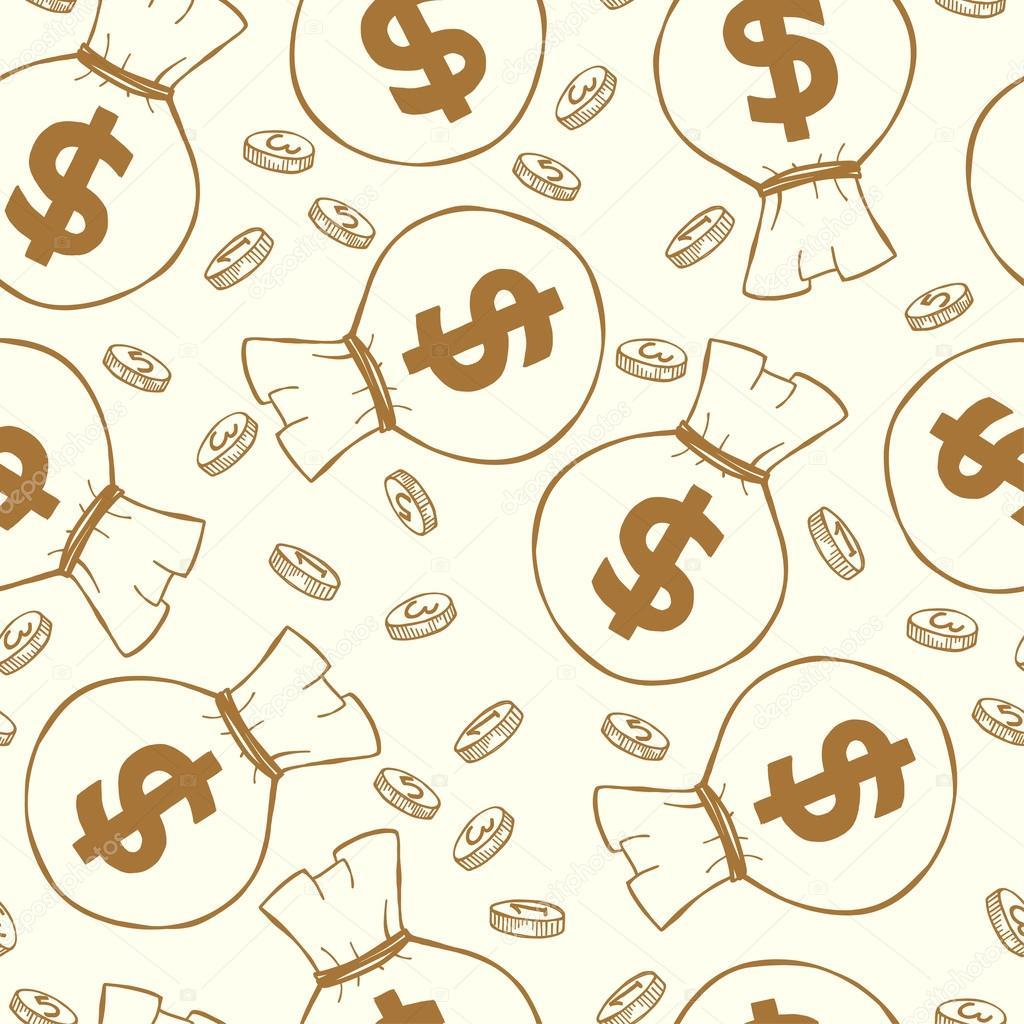 Patrón sin fisuras con el dinero — Vector de stock © TashaNatasha ...