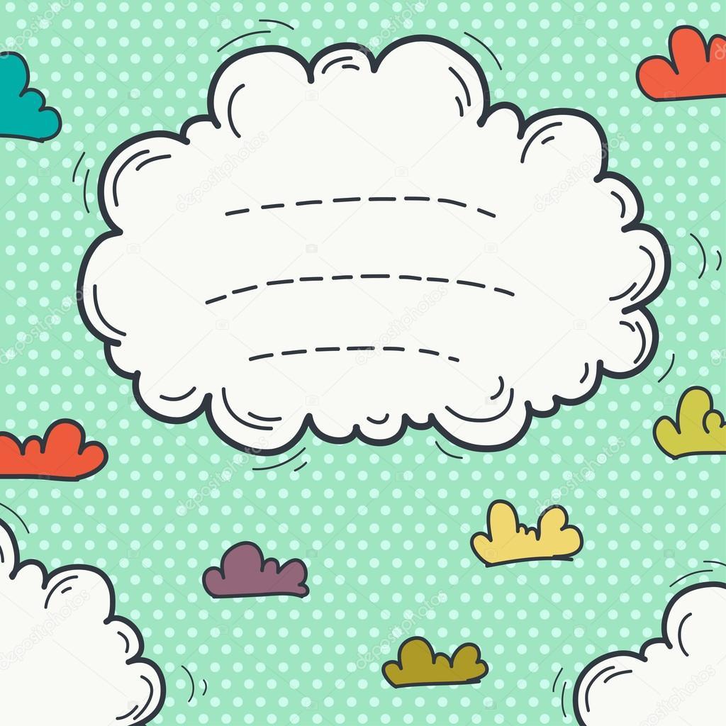 Doodle cloud frame — Stock Vector © TashaNatasha #52817733